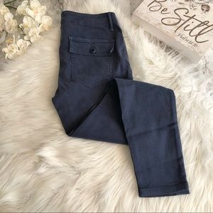 The GREAT. Skinny Armies Cords Midnight Blue, 26